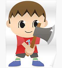 Chibi Animal Crossing Villager Vector Poster