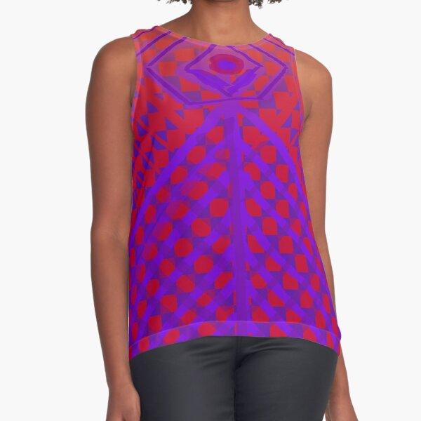Purple and Red Princess Design  Sleeveless Top