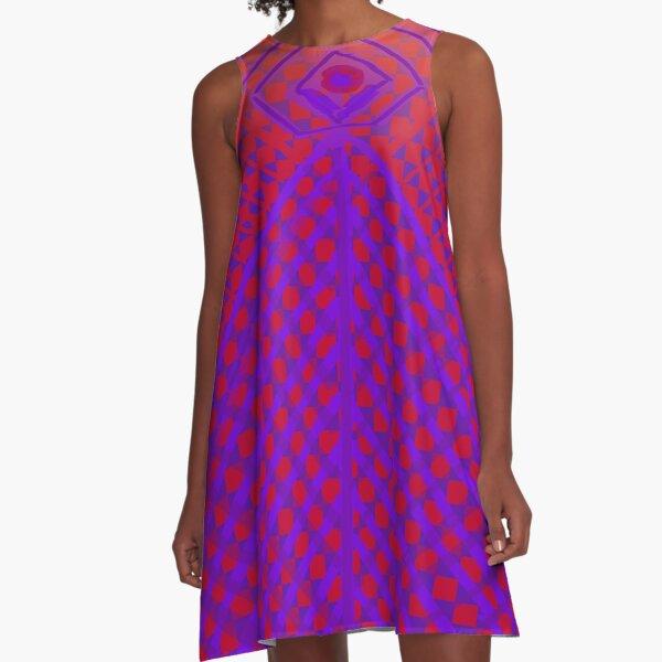 Purple and Red Princess Design  A-Line Dress