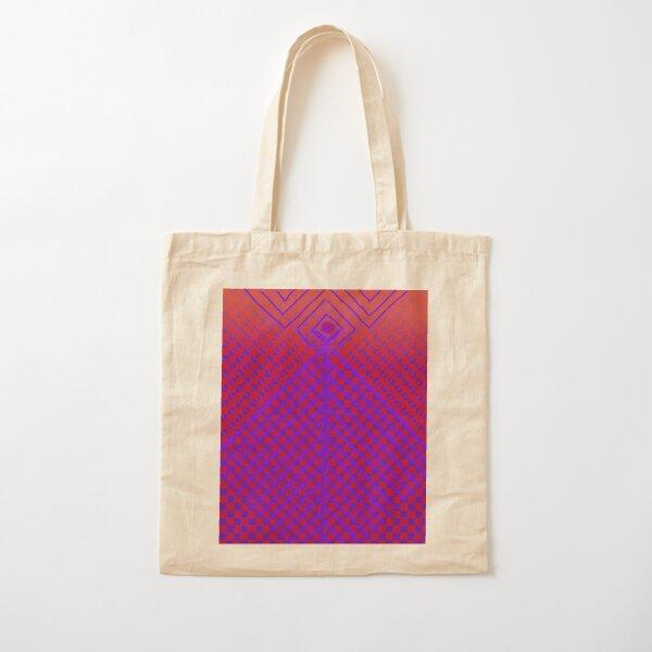 Purple and Red Princess Design  Cotton Tote Bag