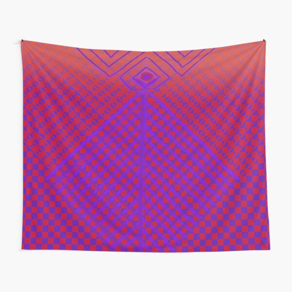 Purple and Red Princess Design  Tapestry