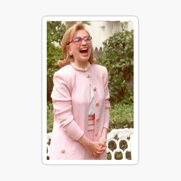 Laughing Hillary Clinton Sticker