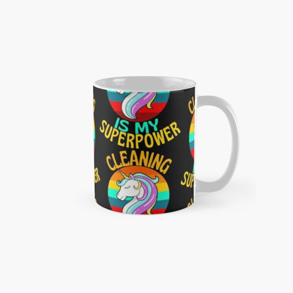 CLEANING Is My Superpower Unicorn Lover Classic Mug