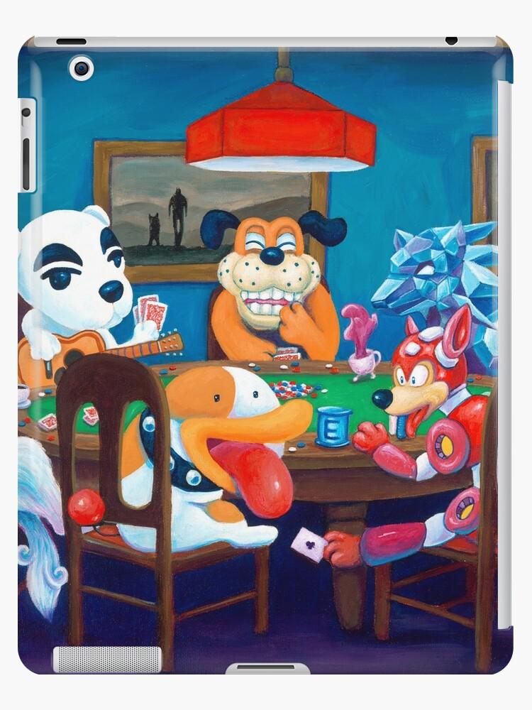 Vinilos Y Fundas Para Ipad Videojuegos Perros Jugando Al Poker De