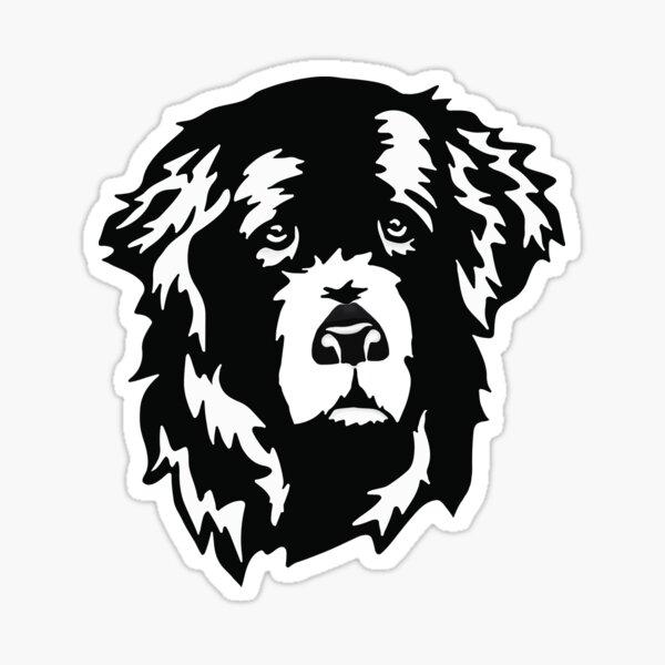 Sweet Newfoundland Dog Face Sticker