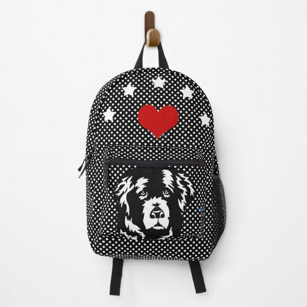 Sweet Newfoundland Dog Face Backpack