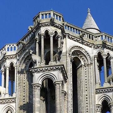 Towertop of the cathedral in Laon by Boscastle