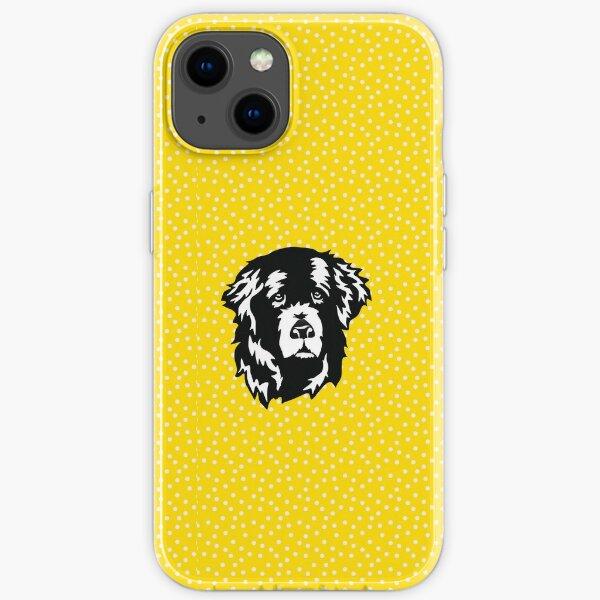 Sweet Newfoundland Dog Face iPhone Soft Case