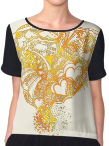 Sunny Hearty Weather Chiffon Top