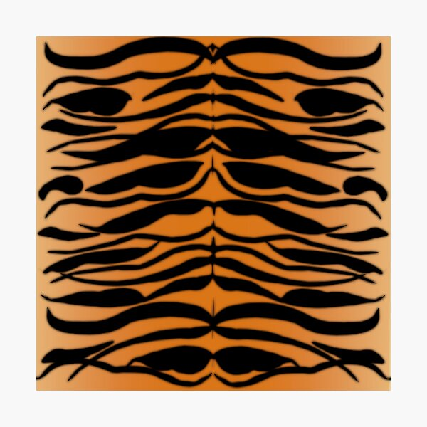 Tiger Skin Striped Pattern in Natural Colors Photographic Print