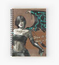 Black Fairy Lethal Spiral Notebook