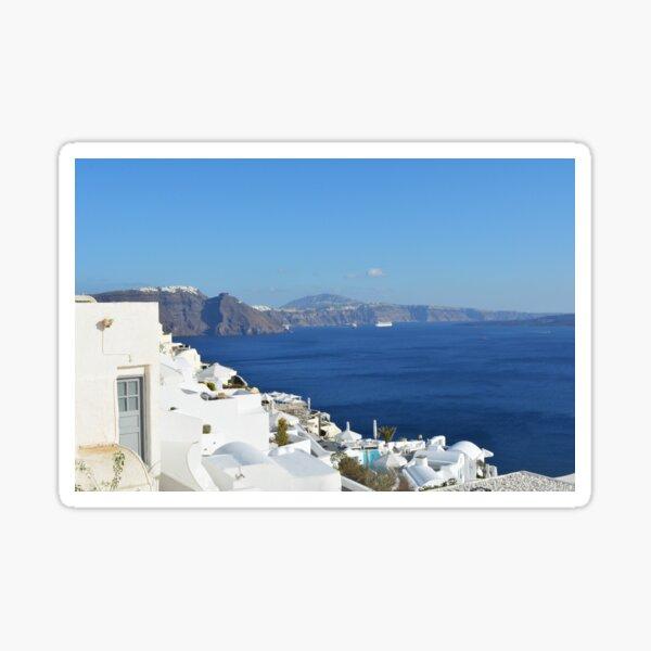 Beautiful white houses in Santorini, Greece Sticker