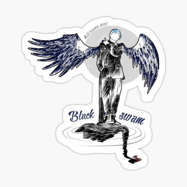 BTS - Black  Swan Pegatina brillante