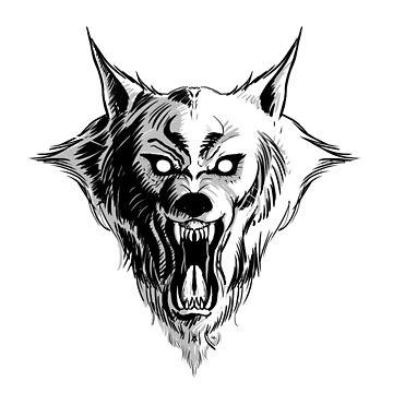 Werewolf Head by Kuauh