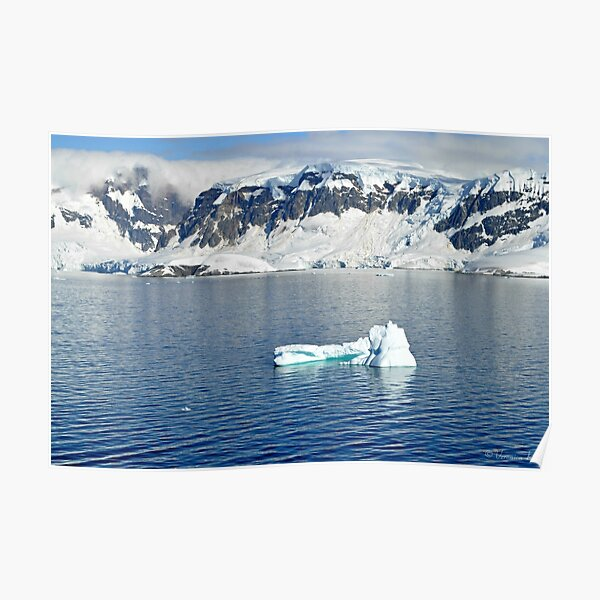 Global Warming Science Ecology Classroom Print Antarctica Iceburg NEW POSTER