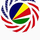 Seychellois American Multinational Patriot Flag Series by Carbon-Fibre Media