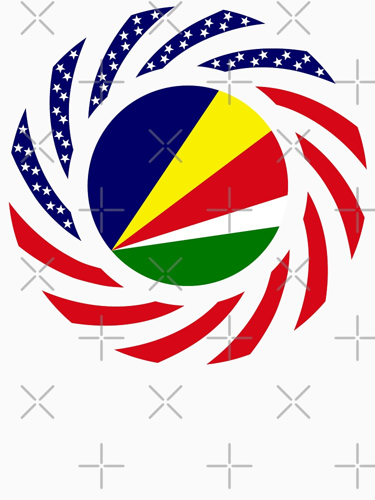Seychellois American Multinational Patriot Flag Series by carbonfibreme