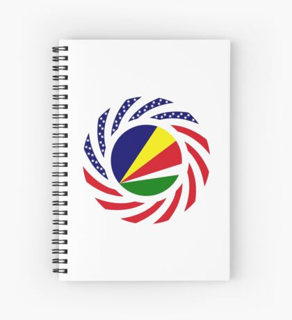 Seychellois American Multinational Patriot Flag Series Spiral Notebook