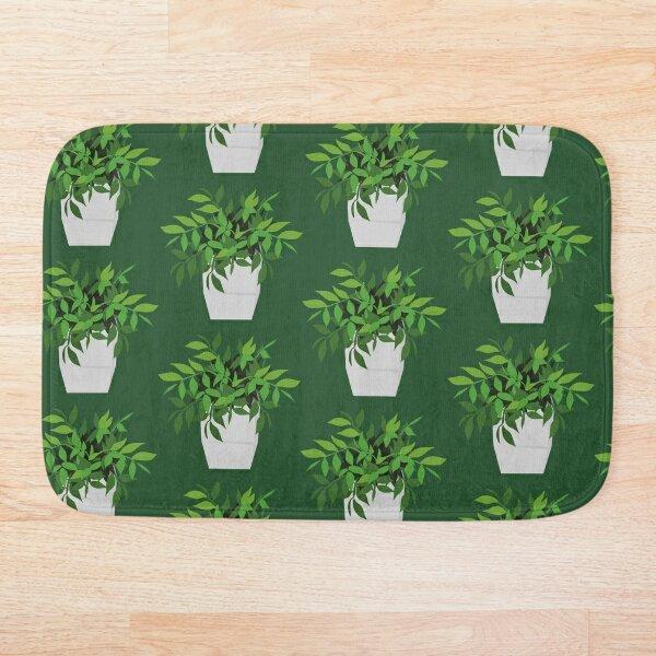 Green Plant  Bath Mat