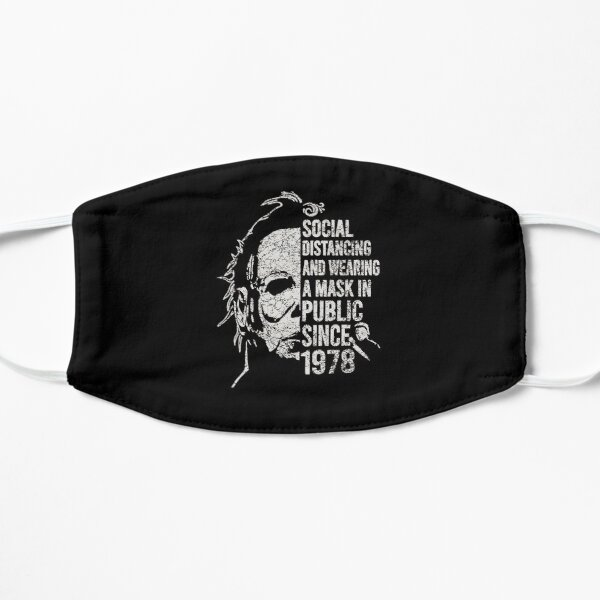 Retro vtg Michael Myers Social Distancing 1978 Flat Mask