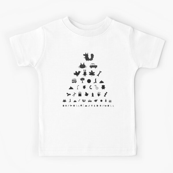 Douglas Eye Chart Kids T-Shirt