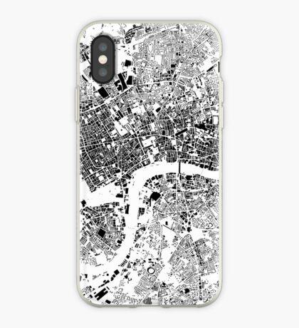 London Map Schwarzplan Only Buildings Urban Plan iPhone Case