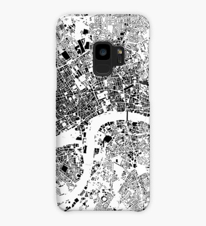 London Map Schwarzplan Only Buildings Urban Plan Case/Skin for Samsung Galaxy
