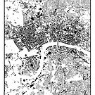 London Map Schwarzplan Nur Gebäude Urban Plan von HubertRoguski