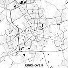 Eindhoven Karte Grau von HubertRoguski