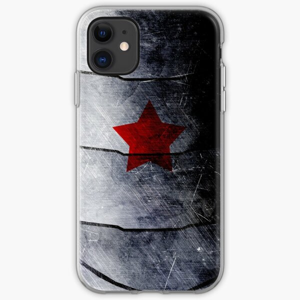red star on steel iPhone Soft Case