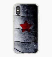 red star on steel iPhone Case