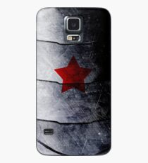 red star on steel Case/Skin for Samsung Galaxy