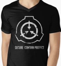 SCP: Secure. Contain Protect Men's V-Neck T-Shirt