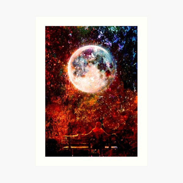 """Told the Moon"" Art Print"