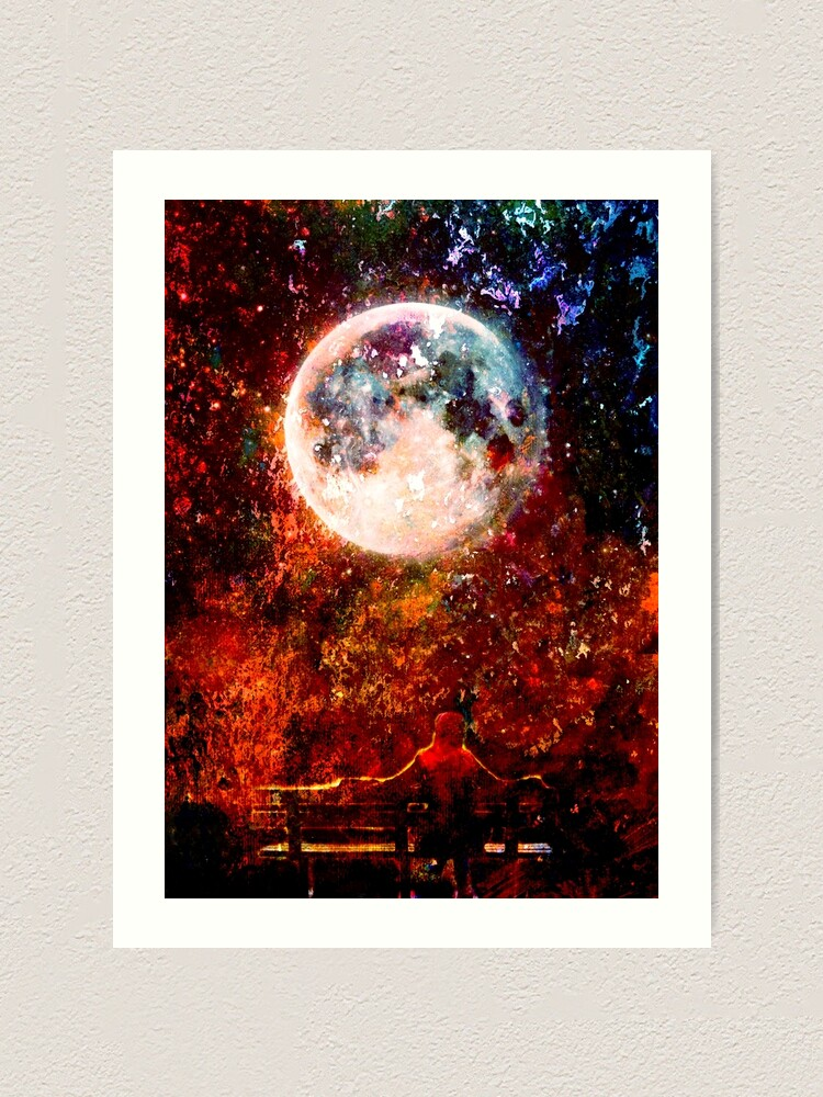 "Alternate view of ""Told the Moon"" Art Print"