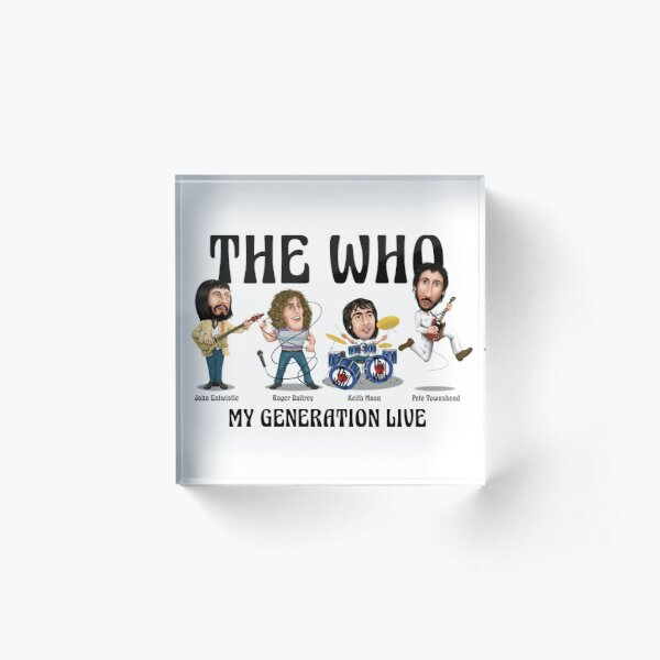 THE WHO caricature print Acrylic Block