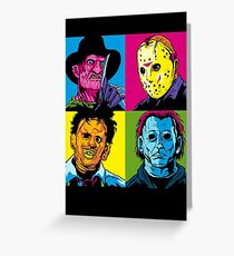 POP HORROR Greeting Card