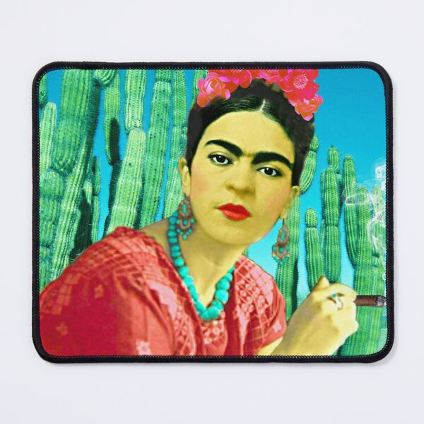 Frida with Cigar and Cactus Mouse Pad
