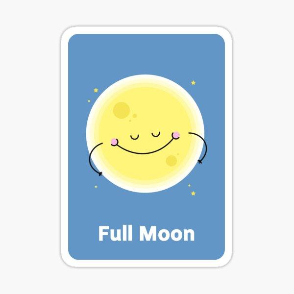 Full moom Sticker