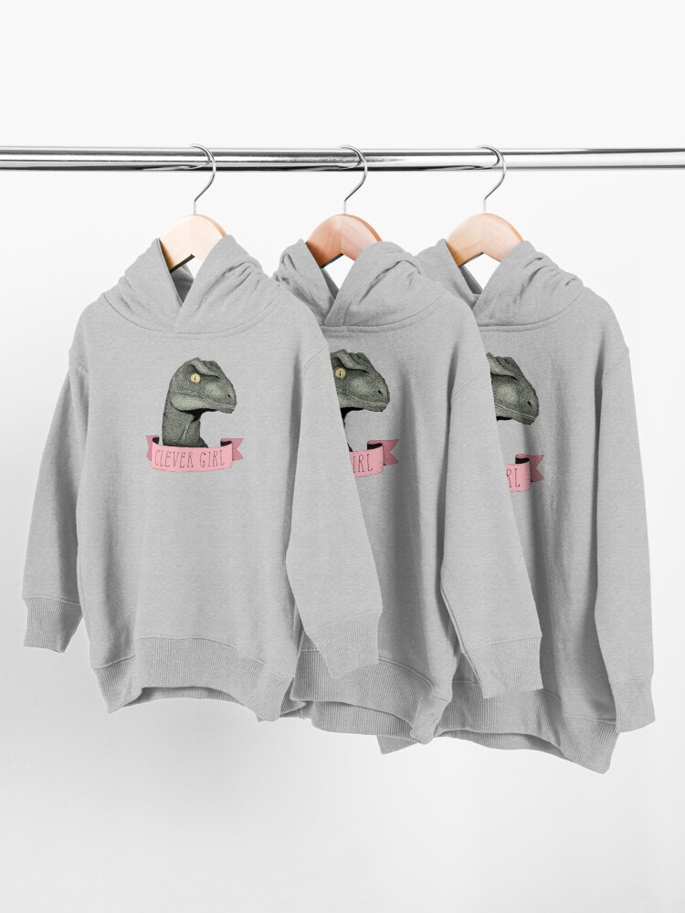 Alternate view of Clever Girl Toddler Pullover Hoodie