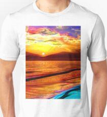 Irish Sea at Sunset (Digital Art) T-Shirt