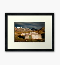 Traditional Kazakh Yurt in the Altai  Framed Print