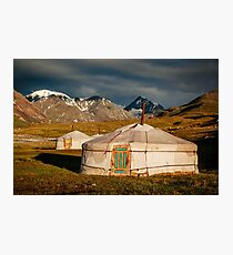 Traditional Kazakh Yurt in the Altai  Photographic Print