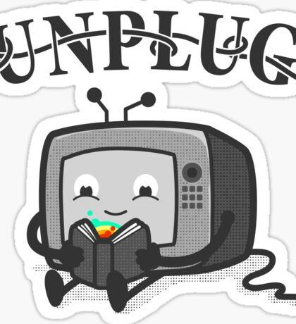 Unplug Sticker