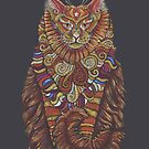 Maine Coon Cat Totem by Jezhawk