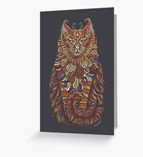 Maine Coon Cat Totem Greeting Card