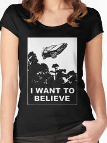 I believe in Delorean Women's Fitted Scoop T-Shirt