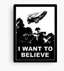 I believe in Delorean Canvas Print