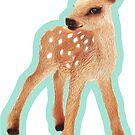 Bambi Fawn on Tiffany Blue by ThistleandFox