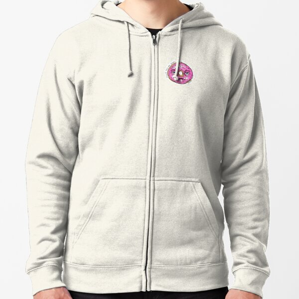 Donut Test Me Right Now - Colour Zipped Hoodie